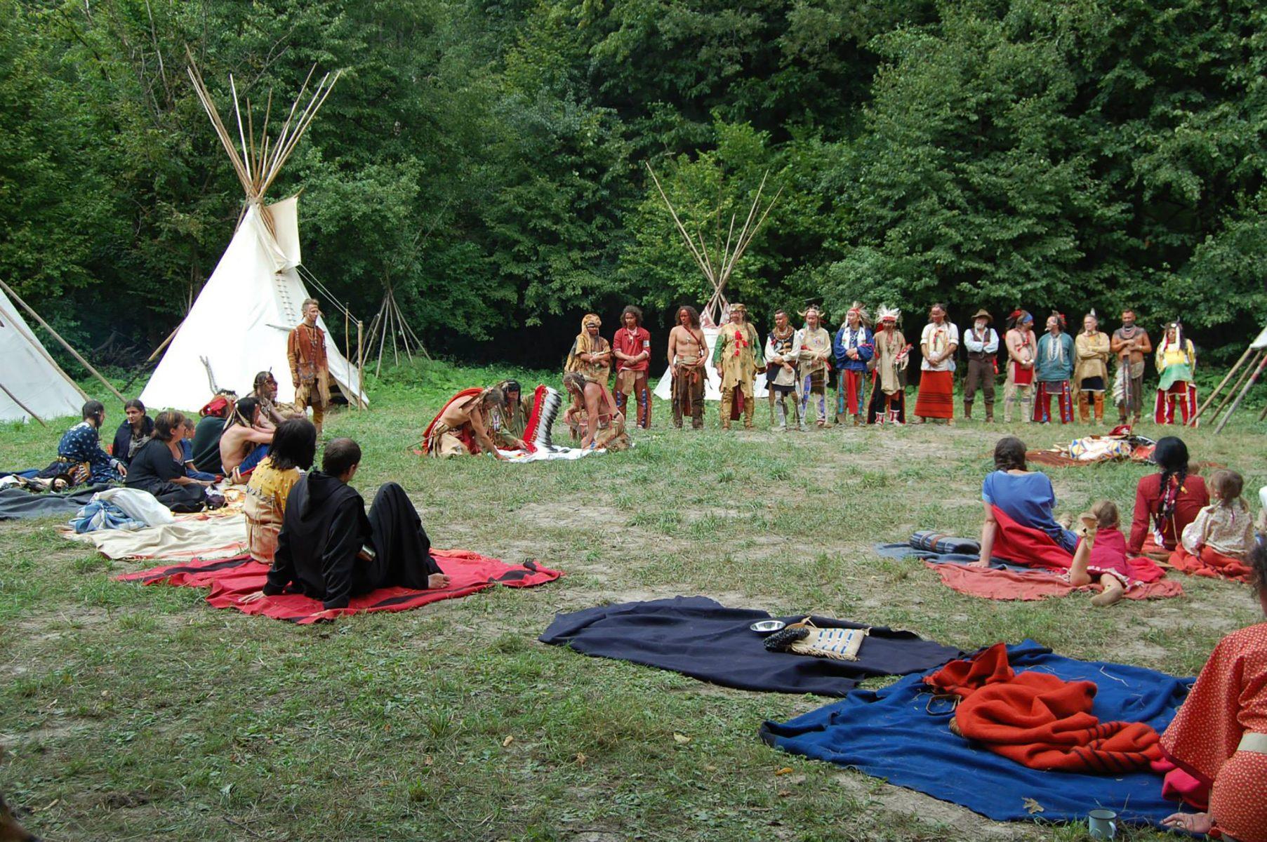 Indiánünnep az egyik táborban